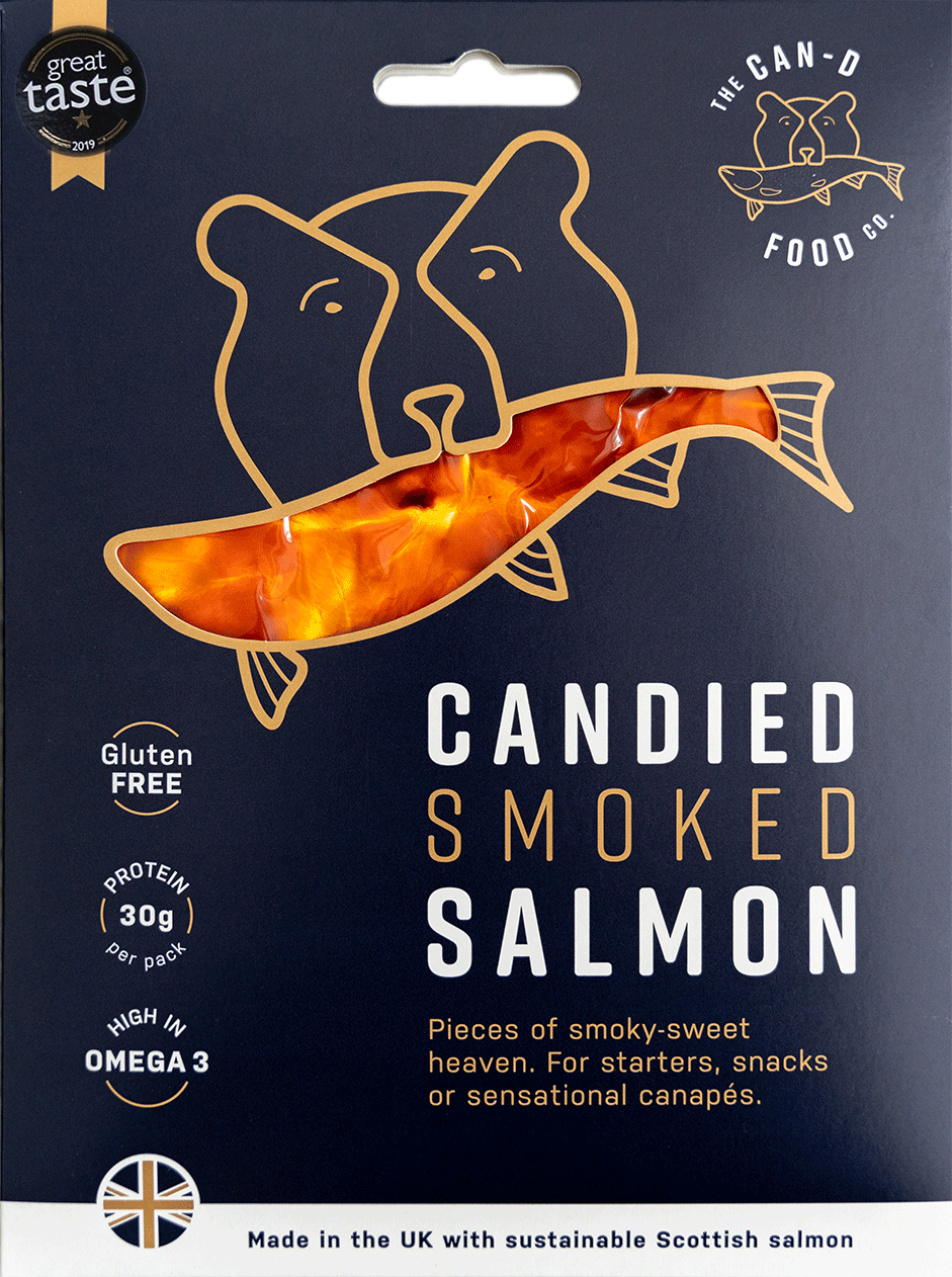 Candied Smoked Salmon 100g Packet